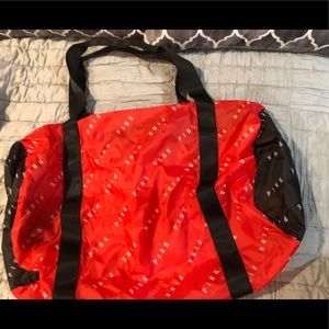 Pink Victoria Secret collapsible Duffle bag